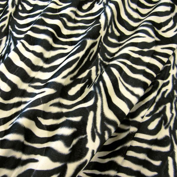 Stoff Fell Fellimitat Zebra weich Innendekoration Kostüm Taschen