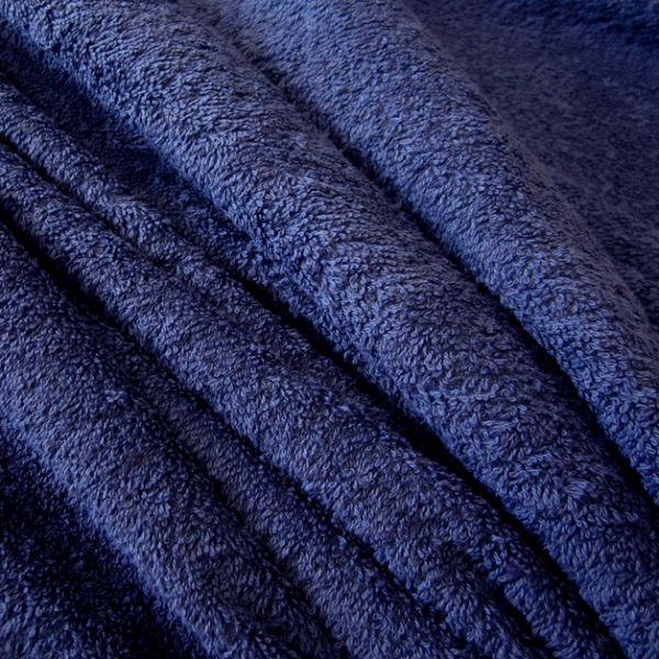 Stoff Meterware Baumwolle Frotté Frottee blau preussischblau weich stabil