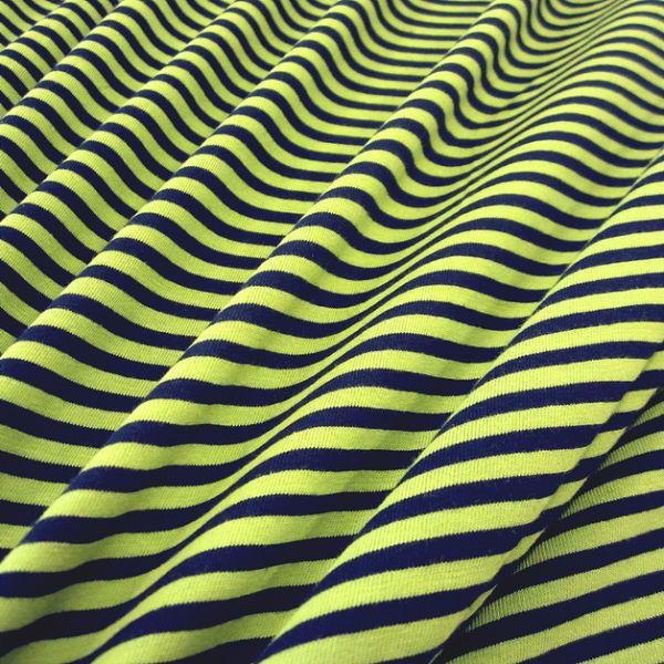 Stoff Baumwolle Jersey Streifen Ringel kiwi marine gestreift Meterware