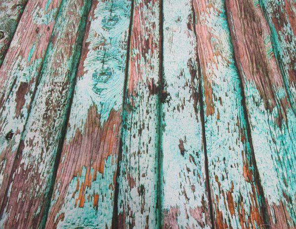 Stoff Baumwolle Digitaldruck Holzwand shabby mint