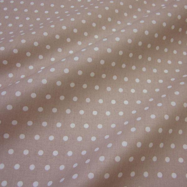 Stoff beschichtet Punkte PEAS beige weiß Regenjacke Tischdecke