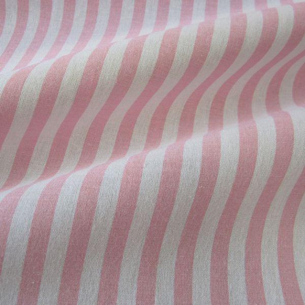 Stoff Baumwolle rosa weiß Streifen 1cm gestreift durchgewebt 0,5