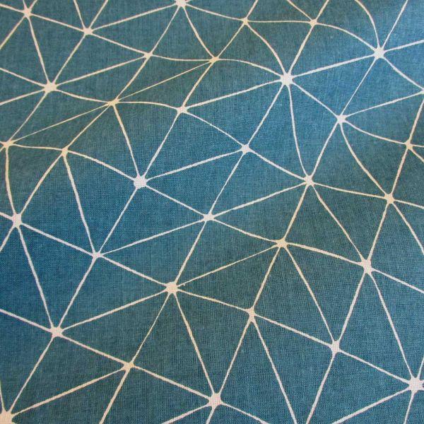 Stoff Baumwolle Japan Origami Grafik petrol weiß