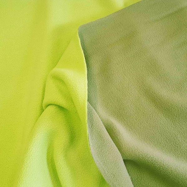 Stoff Meterware Fleece Doubleface Khaki/Kiwi Polar Fleece antipilling schwer