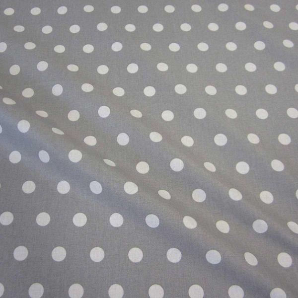 Stoff beschichtet Punkte PASTILLE grau weiß Regenjacke Tischdecke 0,5