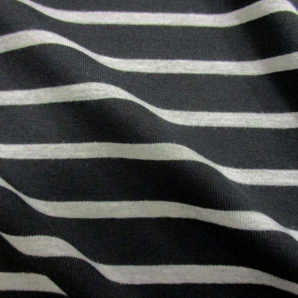 Stoff Baumwolle Jersey Ringel schwarz grau