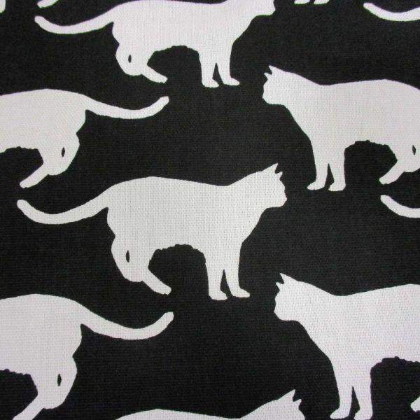 """Stoff Baumwolle """"Katten"""" Katzen schwarz weiss"""