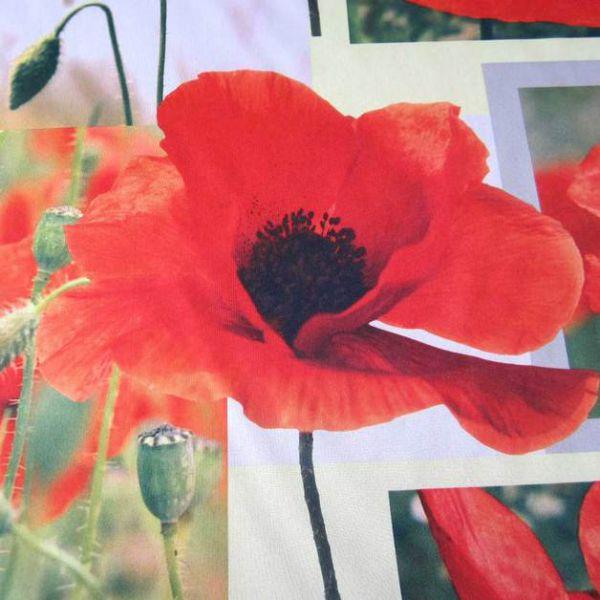 Stoff Meterware Mohn Klatschmohn Blumen Fotodruck