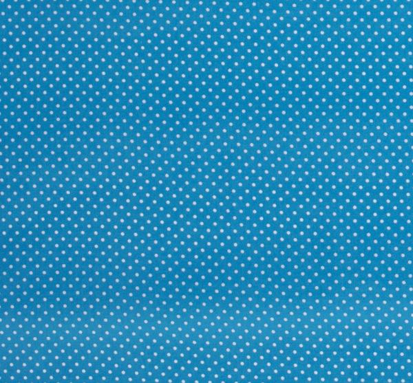 Stoff Baumwollstoff Punkte aqua weiß S 2 mm-