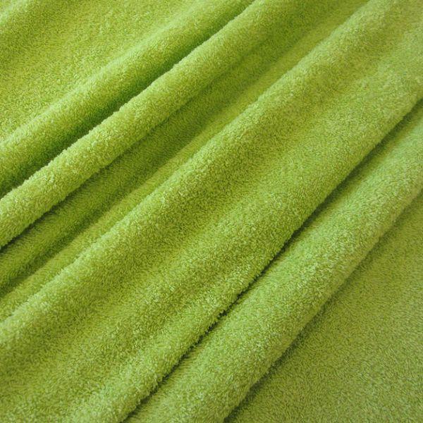 Stoff Meterware Baumwolle Frotté Frottee hellgrün kiwi weich stabil