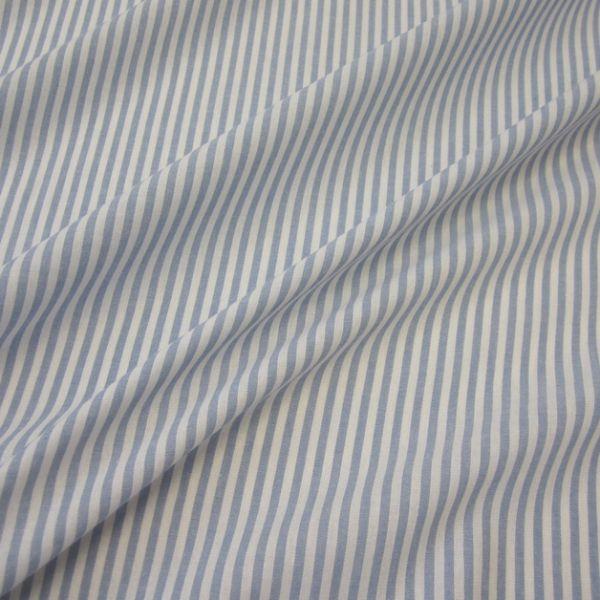 Stoff Baumwolle hellblau weiß Streifen 4mm gestreift durchgewebt