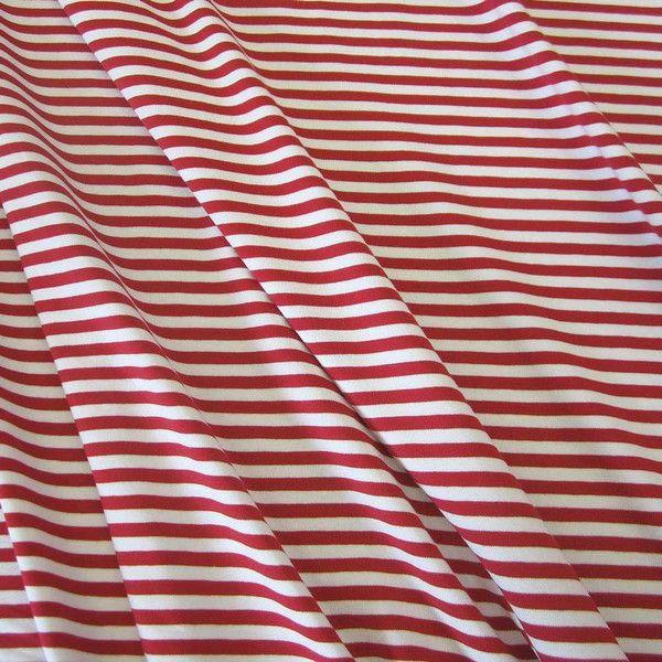 Stoff Baumwolle Jersey Streifen rot weiß Ringel