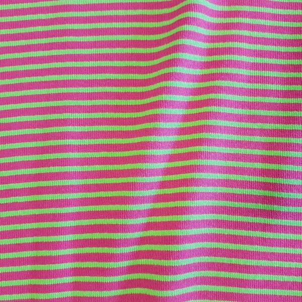 Bündchenstoff Jersey Schlauchware Ringel kiwi pink gerippt 0,5