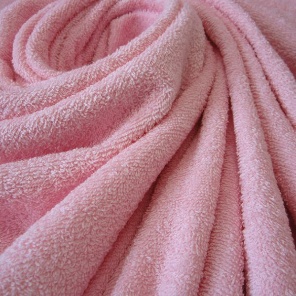 Stoff Meterware Baumwolle Frotté Frottee rosa rose weich stabil