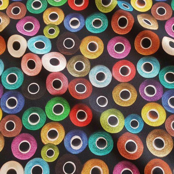 Stoff Baumwolle Garnrollen Digitaldruck Nähgarn Dekostoff