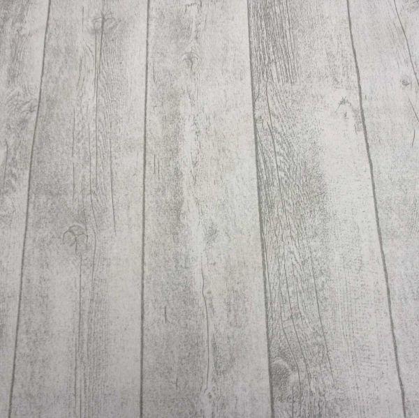 Stoff beschichtet Baumwolle Holz shabby weiss
