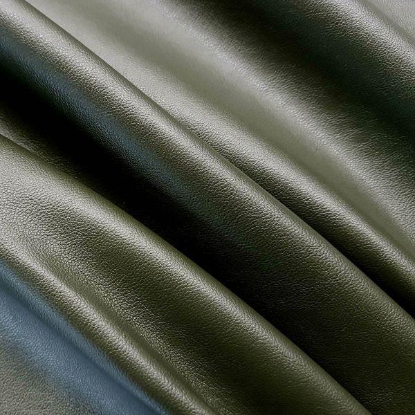 Stoff Meterware Kunstleder Nappa olivgrün military Lederimitat Bezugsstoff Möbel Taschen 0,5