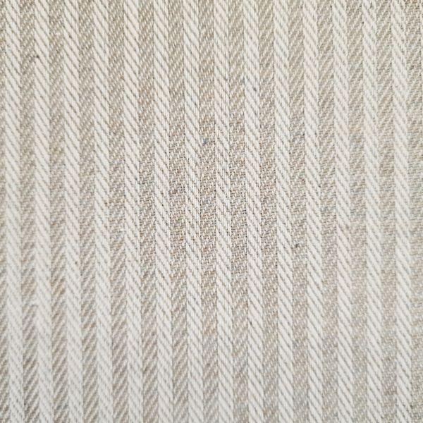 """Stoff Baumwolle pflegeleicht """"Dobby"""" Streifen beige/taupe natur durchgewebt Fischgrat 0,5"""