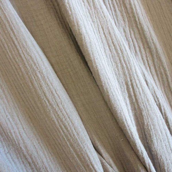 Stoff Baumwolle Musselin Mulltuch beige sand uni