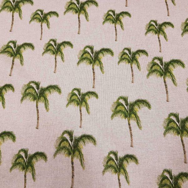 Stoff Meterware Baumwolle pflegeleicht natur grün Palme Palmen Fotodruck Deko