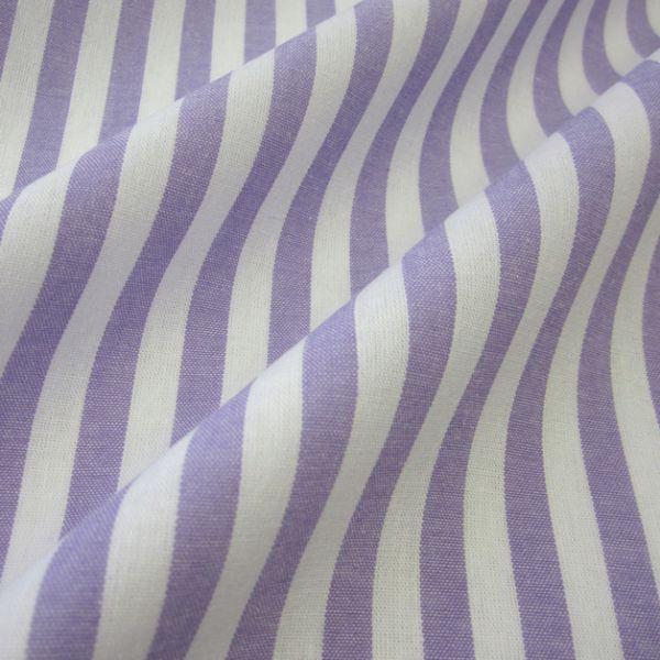 Stoff Baumwolle lila lavendel weiß Streifen 4mm gestreift durchgewebt