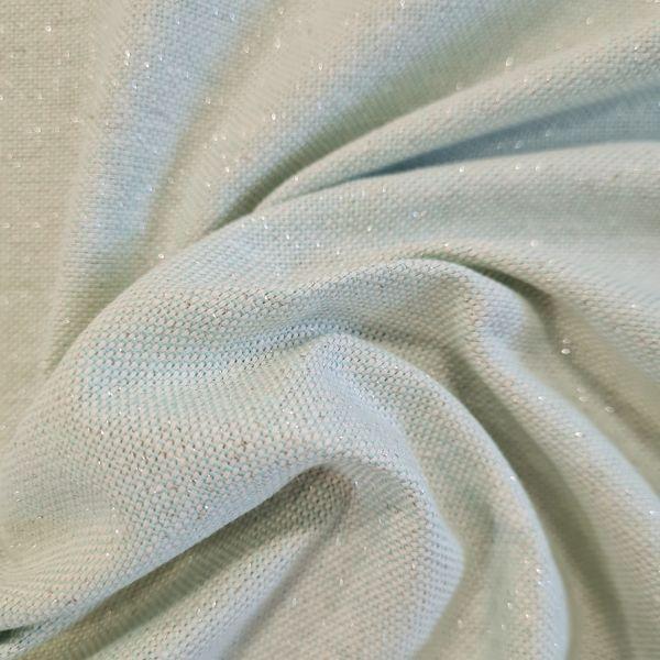 Stoff Meterware Baumwolle mint Glitzer silber 0,5