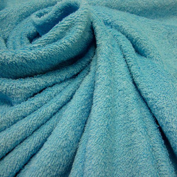 Stoff Meterware Baumwolle Frotté Frottee aqua poolblau azur weich stabil