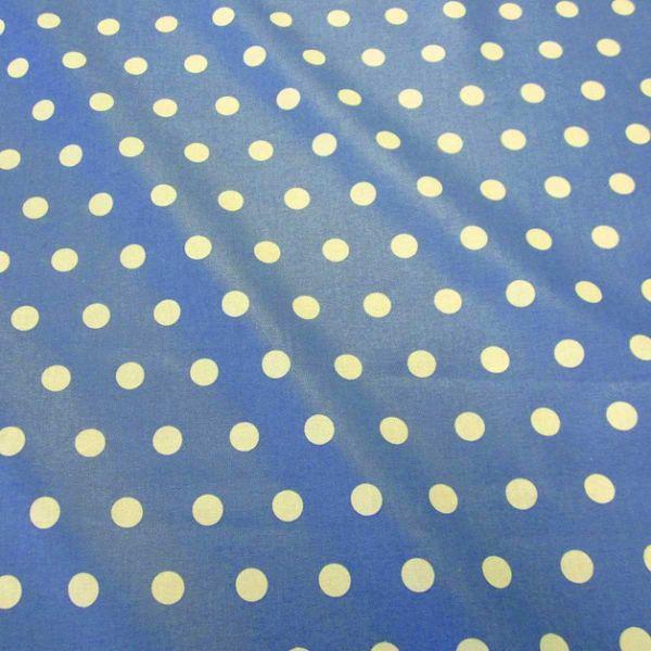 Stoff beschichtet Punkte PASTILLE blau ozean weiß Regenjacke Tischdecke
