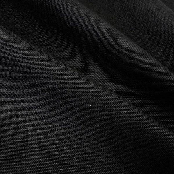 Stoff Baumwolle Meterware Panama Canvas schwarz