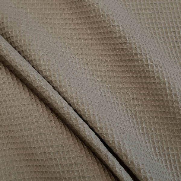 Stoff Meterware Baumwolle Waffelpikée Waffelpiqué beidseitig beige/taupe 0,5