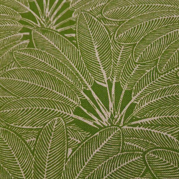 Stoff Baumwolle Meterware grün Palmen Palmenblätter Dekostoff aus Frankreich
