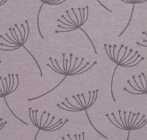 Stoff Baumwolle Meterware grau Pusteblumen stabil 0,5