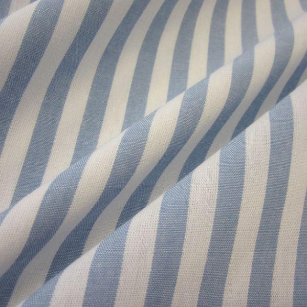 Stoff Baumwolle hellblau weiß Streifen 1cm gestreift durchgewebt 0,5