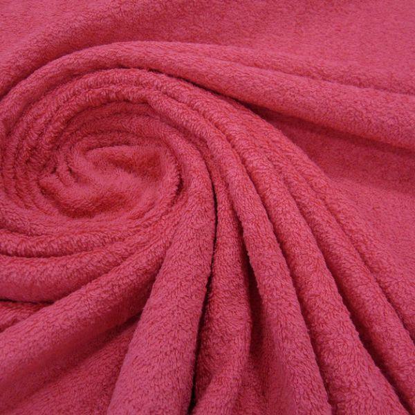 Stoff Meterware Baumwolle Frotté Frottee fuchsia pink weich stabil